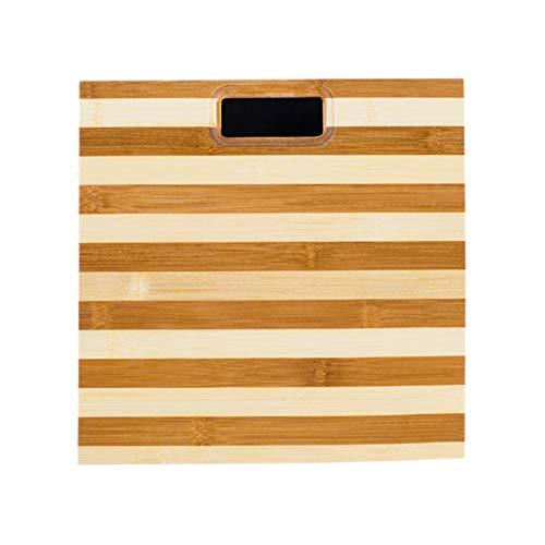 CHAN Nuovo di Alta qualità Durevole Bilancia Zebra Pattern di bambù Scala di Legno Scala Umana Salute Protezione Ambientale Antiscivolo Design Bilancia