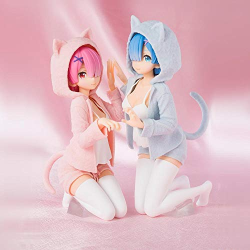 RHJJIPSD Figura De Vinilo,Personaje De Anime Japonés Re: Life from Zero World Rem Ram Figura PVC Colección De Acción Modelo Muñeca-con Caja Al por Menor
