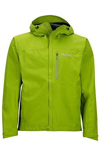 Marmot Men's Minimalist Lightweight Waterproof Rain Jacket, GORE-TEX with PACLITE Technology, Green Lichen, Small