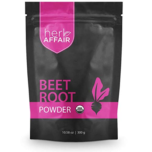 Organic Beet Root Powder - Nitric Oxide Booster Supplement - Raw Red Beetroot Juice for High Blood Pressure Support - USDA Organic Superfood for Blood Circulation and Super Stamina - Non-GMO, Vegan