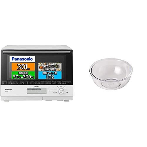 【セット買い】パナソニック ビストロ スチームオーブンレンジ 30L 2段 ホワイト NE-BS807-W & PYREX 耐熱ボウル2.5ℓ CP-8559