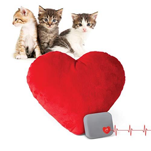 K&H PET PRODUCTS Mütter Herzschlag Plüsch Kissen rot Kätzchen Herzschlag Rhythmus 15,2 cm
