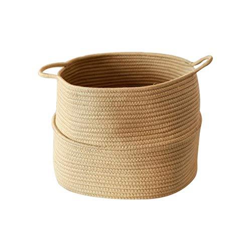 biteatey - Cesta de algodón con asa para la Ropa de bebé, para Guardar Juguetes