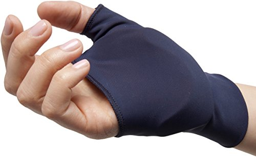 NatraCure Computer Gloves (Carpal Tunnel Relief) Size: Medium/Large - One Pair (Reversible) - (For Wrist and Hand Pain Relief from Typing and Other Repetitive Movements)