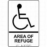 金属エリアの避難所/レスキューサイン白サインサイン