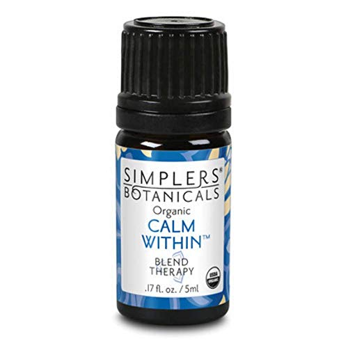 Living Flower Essences Simplers Botanicals, Calm Within, 0.16 Fluid Ounce