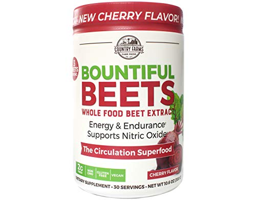 Country Farms Bountiful Beets Circulation Superfood, Delicious Natural Flavor 10.6 Ounces Each (3)