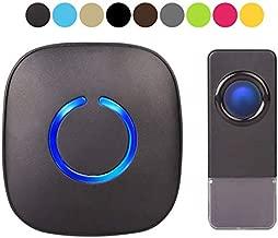 Wireless Doorbell by SadoTech – Waterproof Door Bells & Chimes – Over 1000-Foot Range, 52 Door Bell Chime, 4 Volume Levels with LED Flash – Wireless Doorbells for Home – Waterproof Model C (MBlack)