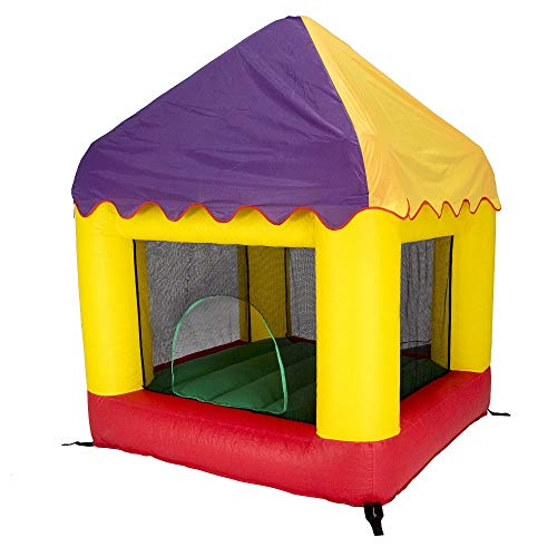 JumpKing 6.25' X 6' Bounce House Combo with Circus Cover