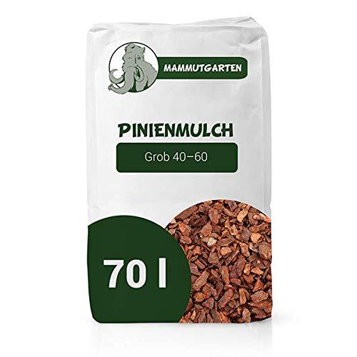 MammutGarten Pinienmulch Pinie Rinde Garten Grob 40-60 mm 70l Sack