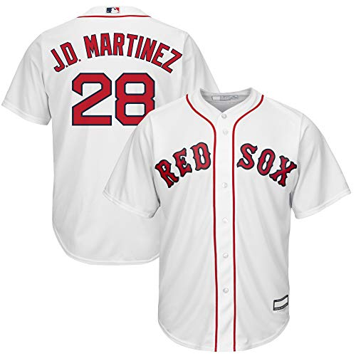 J.D. Martinez Boston Red Sox MLB Boys Youth 8-20 Player Jersey (White Home, Youth X-Large 18-20)