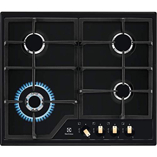 ELECTROLUX EGS6436RK Cocina de gas, Acero Inoxidable 18/8, Negro