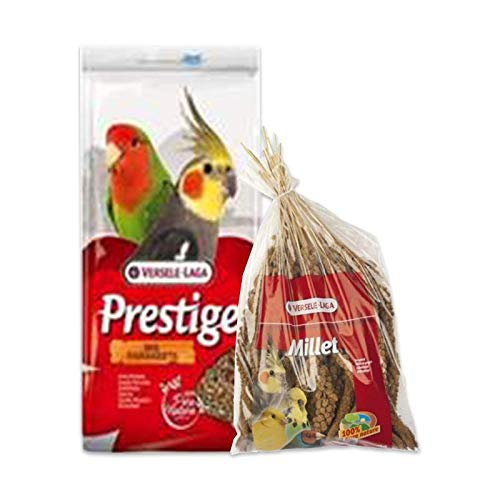 Versele-laga - Pack Ahorro para agapornis y ninfas MIXTURA 1 kg. + PANIZO 300 gr