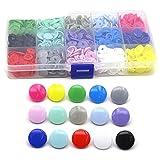 150 juegos de botones a presión para la ropa T3 / T5 Máquina de presión Sujetador en forma de U Alicates a presión +150 juegos de botones de plástico de estrella de corazón redondo-Caja redonda T3