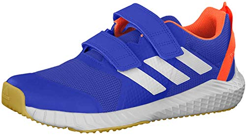 adidas Unisex-Kinder FortaGym CF Sneaker, Blau (Collegiate Royal/Footwear White/Solar Orange), 35 EU