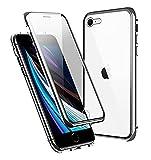 Funda para iPhone SE 2020 Magnética Carcasa,360° Funda Protectora de Cuerpo Completo,Rugged Metal Bumper Antigolpes...