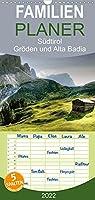 Suedtirol - Groeden und Alta Badia - Familienplaner hoch (Wandkalender 2022 , 21 cm x 45 cm, hoch): Traumreise durch die Dolomiten (Monatskalender, 14 Seiten )