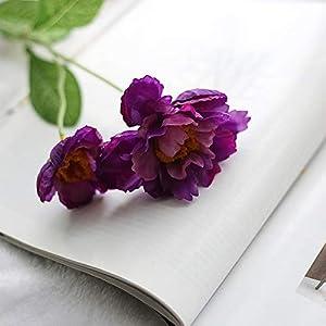 MEIHON 6pcs/lot Artificial Silk Poppies Flowers Silk Poppy Flower for Home Wedding Party Decoration (Dark Purple)