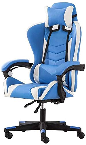 Reception Chairs Computer Chair Racing Gaming Chair with Massage Function High Back Racing Chair Height Adjustable Ergonomic Office Desk Chair with Headrest and Lumbar Support Athletic Chair