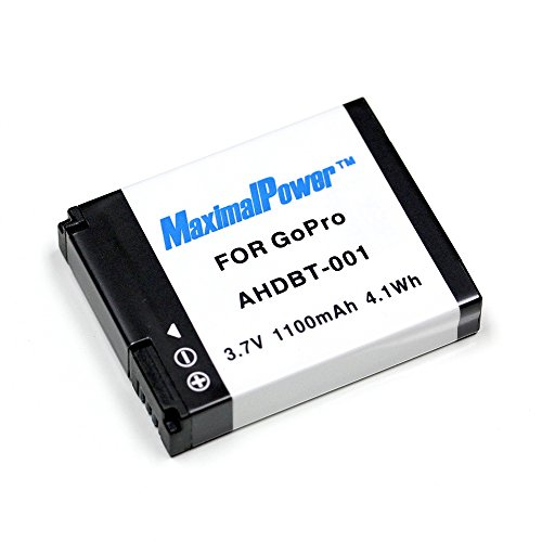 Maximal Power Replacement Battery for GoPro Hero HD HERO, HERO2 Pro Camera, Part# AHDBT-001, AHDBT001 DB GoPro AHDBT001