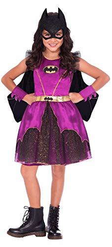 amscan 9906300EU Disfraz de superhroe de Batman morado para nias, edad 10-12-1 unidad