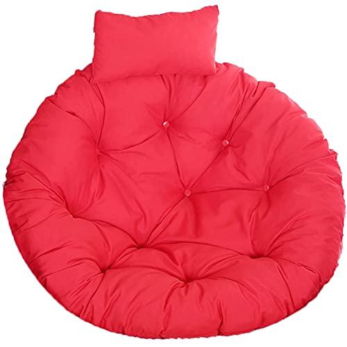 WQF Cojín para Silla Egg para Exteriores, cojín para Asiento de Columpio Grueso para Colgar, Silla Hamaca Grande Lavable para Dormitorio con Almohada Ajustable, cojín Papasan, Cojines para sillas