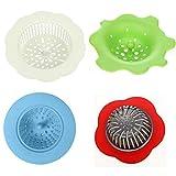 Hinter Ausgießsieb, Acryl, Silikon, Blumen-Abflusssieb zum Ausgießen von Acrylfarbe und Erstellen von einzigartigen Mustern und Designs, auch als Spüle Wasserfilter/Küchenspüle Abfluss 4 Stück