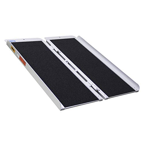 Ruedamann Threshold Ramp 3ft for Home Steps,Stairs,Doorways,Mobility Scooter, Folding Ramp for Wheelchair with Non-Slip Surface (MR607WL-3)
