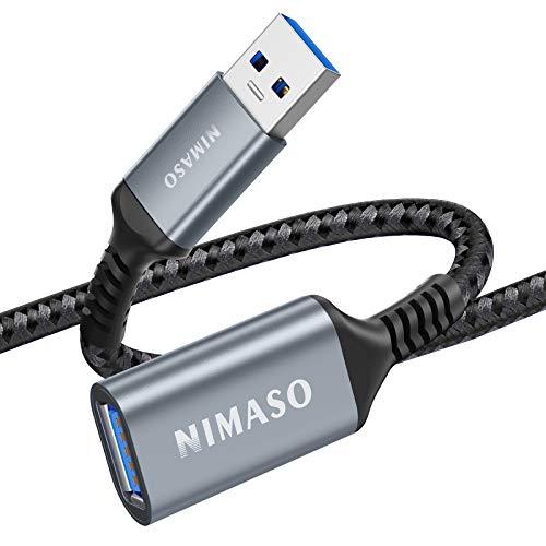 NIMASO Cavo Prolunga USB 3.0 2M, Cavo USB Maschio e Femmina 5Gbps Cavo Estensione USB 3.0 per Chiavetta USB, Hub USB, Disco Rigido Esterno, Tastiera, Mouse, Stampante, Videocamera, Gamepad ECC