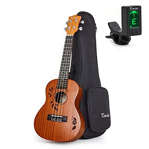 Kmise Concert Ukulele Uke Acoustic Hawaiian Guitar 23 Inch 18 Frets Mahagany With...
