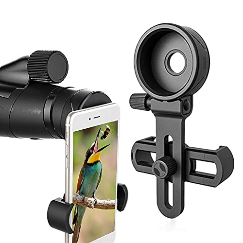 Phone Scope Cell Phone Adapter Mount - Compatible Binocular Monocular Spotting Scope Telescope Microscope-Fits Almost All Smartphone on The Market -Record The Nature The World by Powder Ridge