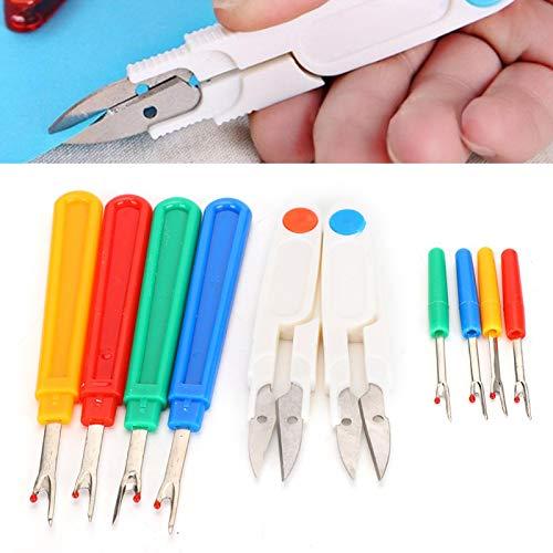 Desgarradores de costura Tijeras de tela de colores, tijeras de coser, suministros de bricolaje para coser, cortadora de bordado para puntada