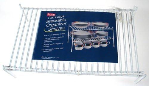 Grayline Panacea Philadelphia Mall Max 68% OFF 40183 2 Large White Shelves Stackable