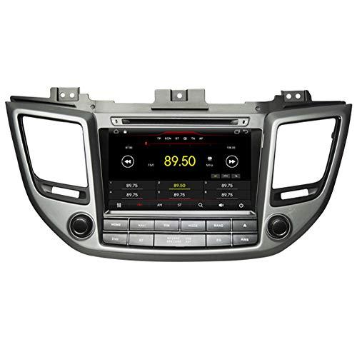 Autosion Android 10 Cortex A9 1.6 G Lecteur DVD de Voiture GPS Radio Head Unit Navi stéréo multimédia WiFi pour Hyundai Tucson ix35 2015 2016 2017 Support Commande au Volant