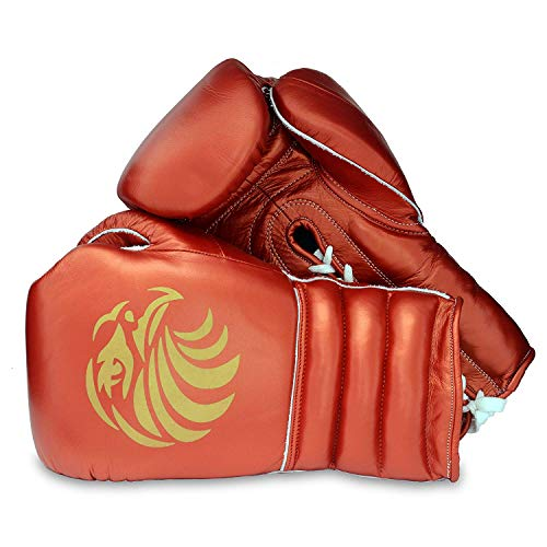 Valour Strike Premium Leder Boxhandschuhe ★ Pro Boxsack Sparring Fight MMA Muay Thai Fight Erwachsene Kampfsport Training Kickboxen Boxhandschuh ★ Golden EaglesTM, Herren, schwarz/rot, 226,8 g (8 oz)