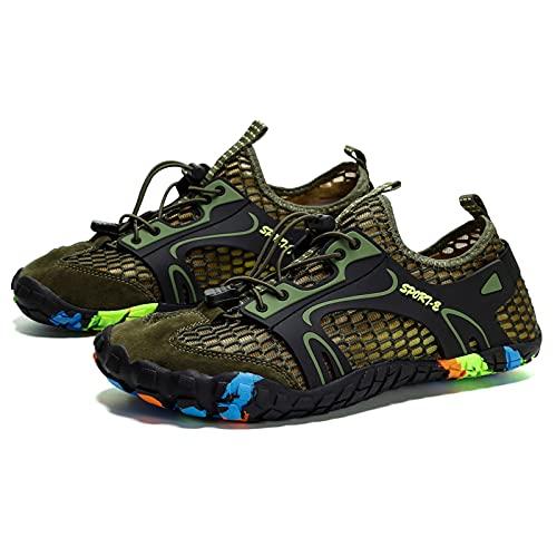 Zapatos para hombre y mujer descalzos para correr y playa, secado rápido, zapatos de agua al aire libre, ligeros, minimalistas, unisex antideslizantes, Green, 41 1/3 EU