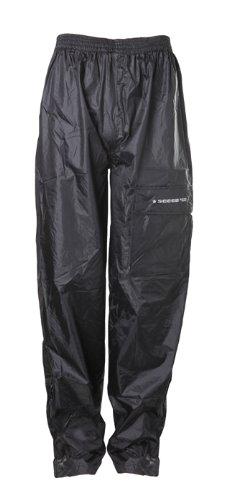 Sceed Pantalones para Lluvia sin Forro, Negro, M