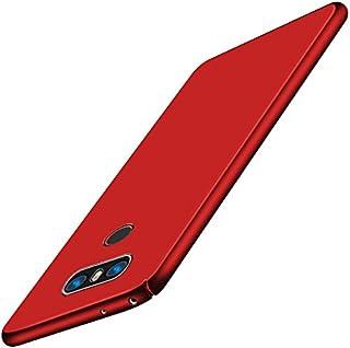 SMTR LG G6 Funda, Calidad Premium Cubierta Delgado Caso de PC Hard Gel Funda Protective Case Cover +1 film Protector de pantalla para LG G6 -rojo
