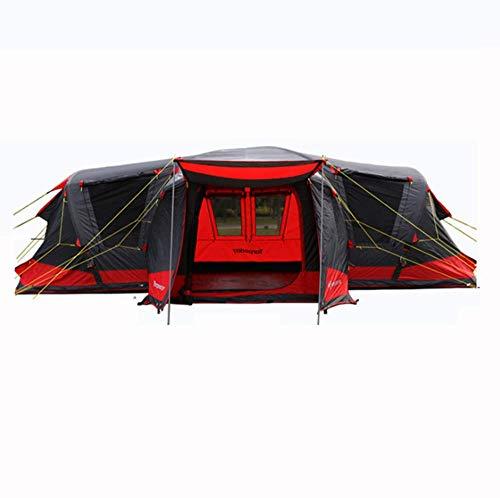 BBX Grupo túnel Tienda Inflable con Parasol 5000 mm Agua Columna Festival Camping mochilero Impermeable al Aire Libre cúpula Tienda 8-18 Personas Abrigo de Nieve a Prueba de Viento