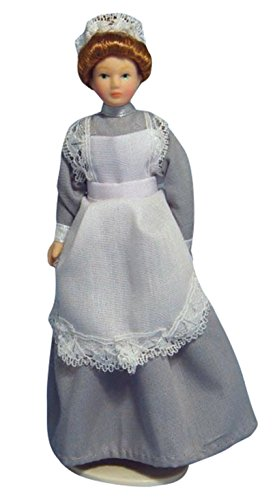 Dolls Houses - Figures - DP131 - Maid in Grey Dress Figure by STREETS AHEAD
