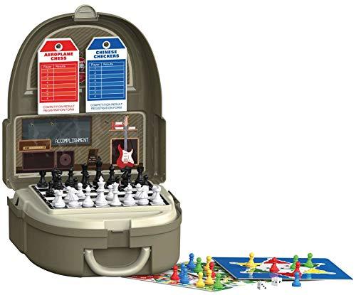 Luna Spielesammlung Koffer 60-TLG. Brettspiel Klassiker m. Zubehör +3 J