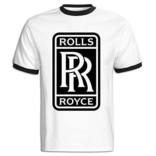 Men's Rolls Royce Logo Baseball T-Shirt Black