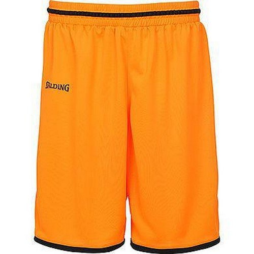 Spalding Evolution II Classic Short Homme, Orange Sombre/Noir, FR (Taille Fabricant : 4XL)