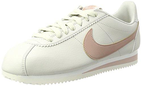 Nike Damen Classic Cortez Leather Sneaker, Beige (Lt Bone/Particle Pink-Summit White), 39 EU