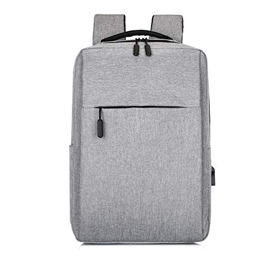 Yi-xir fashion design New Laptop Usb Backpack School Bag Rucksack Anti Theft Men Travel Daypacks Male leisure Backpack Lightweight and durable (Color : Gray)