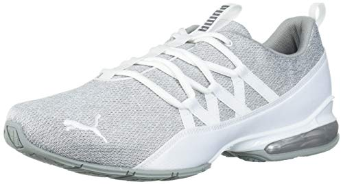 PUMA Women's Riaze Prowl Sneaker, White Silver, 8.5 M US