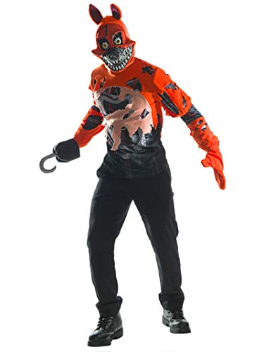 Rubie's Men's Five Nights at Freddy's Deluxe Nightmare Foxy Costume, As Shown, Small