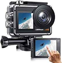 Campark Action Camera 4K 20MP Dual Screen EIS WiFi 40M Waterproof Underwater Vlogging Camera Men Gifts with Accessories Kit