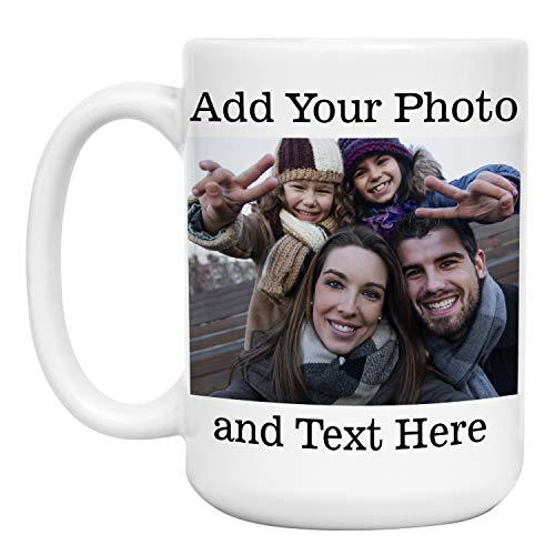 Custom Photo Mug w/ Any Photo & Text, Free Printing, 15 oz....