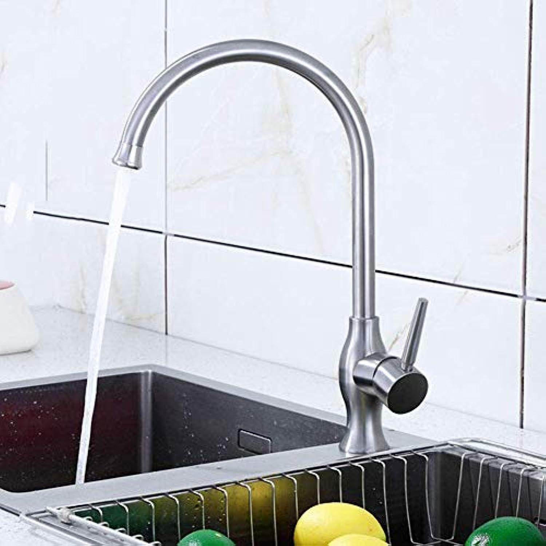 360 ° drehbaren Wasserhahn Retro Wasserhahn304 Edelstahl Küchenarmatur warmen und kalten Wasser Mischbatterie